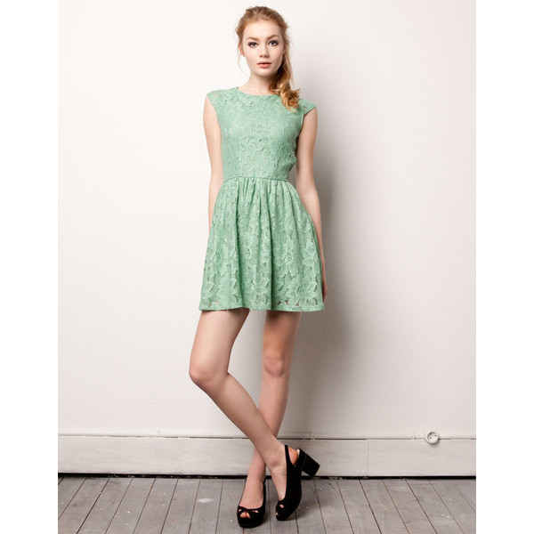 LACE DRESS - DRESSES - WOMAN - Poland - Polyvore