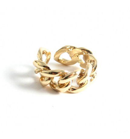 Chain Link Gold Statement Ring