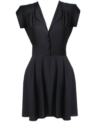 LOVE Black Tea Dress - In Love With Fashion