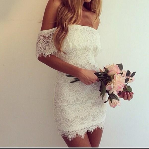 dress off the shoulder cream dress shoulder free
