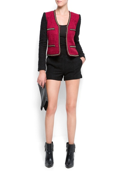 Outlet - Women - Jackets - Chain trimmed bouclé jacket