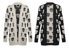 NEW WOMENS LADIES BOYFIREND SWEATSHIRT JUMPER CARDIGANS SKULL PRINTED 8-14 | eBay