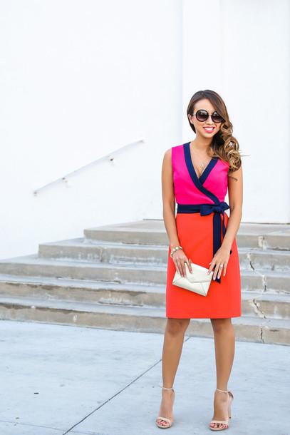 lace and locks blogger clutch v neck dress sandals shoes bag jewels