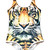 The Fierce Feline Tiger Print Tank Bodysuit - PressPlay Fashion Australia