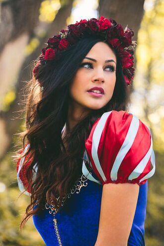 dress halloween disney princess flower crown halloween costume costume snow white
