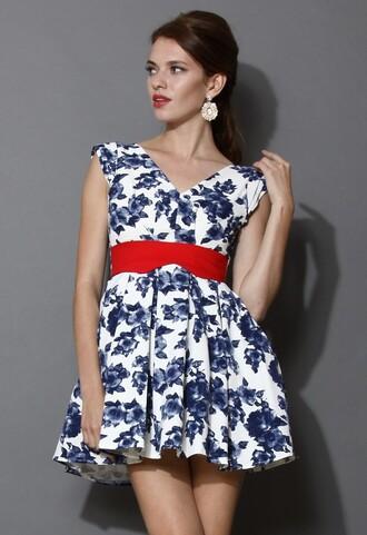 chicwish precious v neck skater dress dress