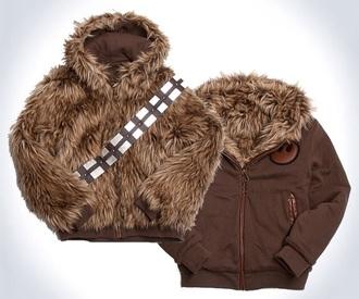jacket star wars hoodie chew baca han solo