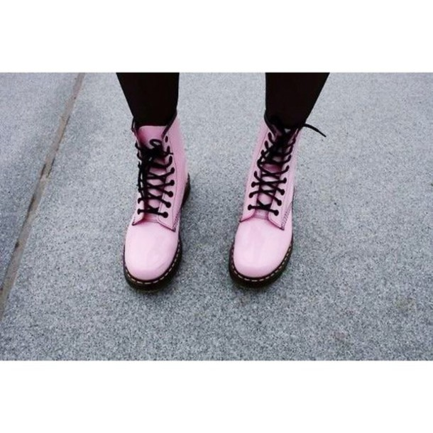 shoes boots DrMartens pink