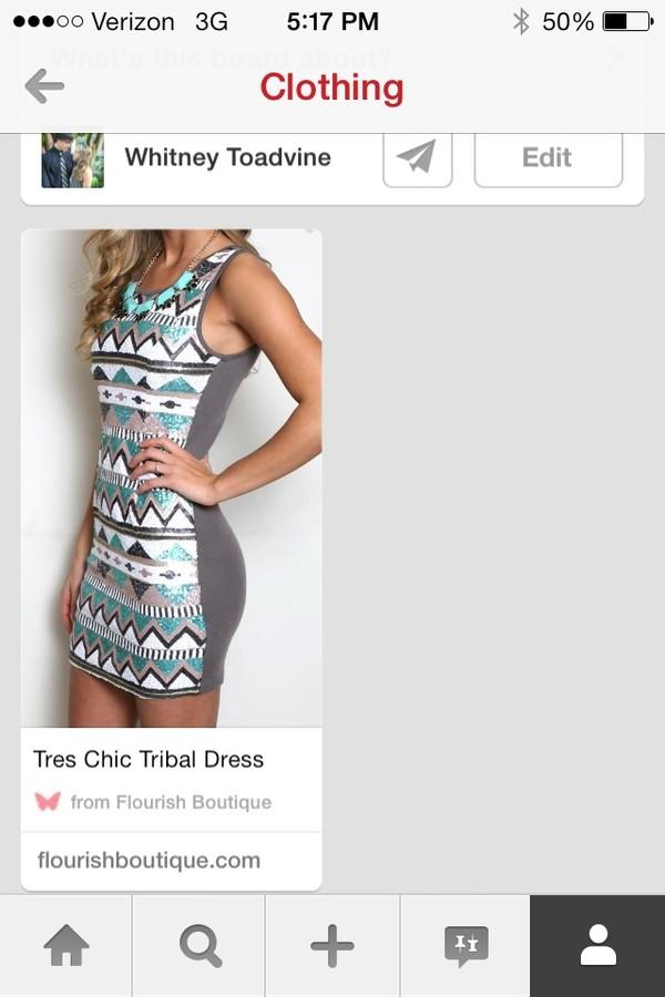 dress tres chic tribal dress