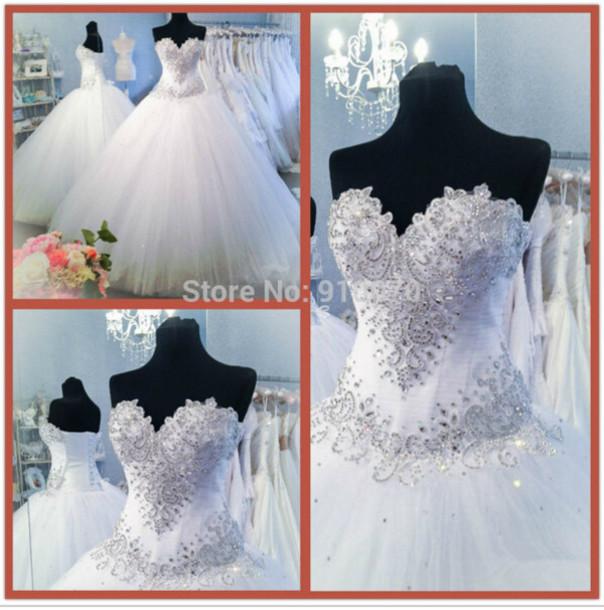 dress wedding dress white bridal gowns crystals wedding dress long wedding dresses for women