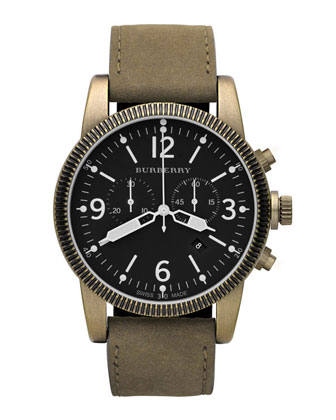 Burberry Endurance Chronograph Watch, Antiqued Gold - Neiman Marcus Last Call