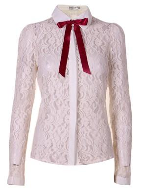Trista Detail Collar Lace Shirt
