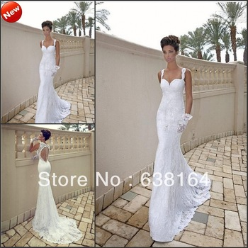 Aliexpress.com : Buy Sexy Backless Long Sleeves White Chiffon Lace Beach Floor Length Weddings&Events Wedding Dress Bridal In Prom Gown 2014 from Reliable lace dress lingerie suppliers on Isabel_Ye *^_^*