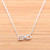 girlsluv.it - INFINITY necklace with crystals, 2 colors
