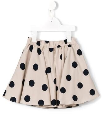 skirt girl toddler polka dots nude