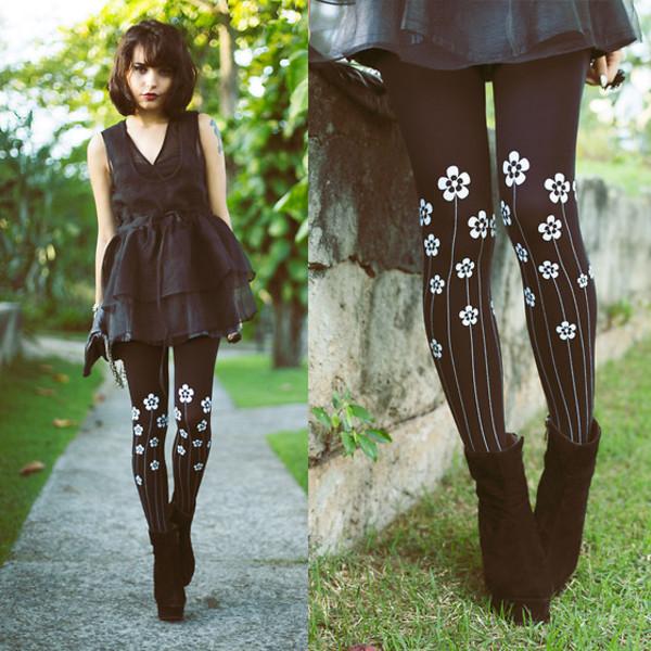 pants tights dress black dress shoes