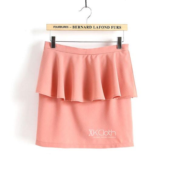 Chiffon Detail Ruffle Skirt S140 /Chiffon Culottes/Skater Skirt/Chiffon Skirt/Chiffon Bottom/Circle  on Luulla