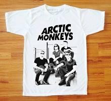 Arctic Monkeys T-Shirt Indie T-Shirt Rock T-Shirt Short Sleeve Tee Shirt Women T-Shirt Men T-Shirt Unisex T-Shirt White Tee Shirt S,M,L,XL