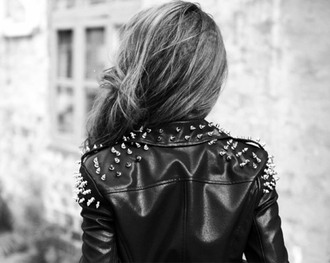 jacket cuir clouté black jacket leather jacket studs spiked leather jacket