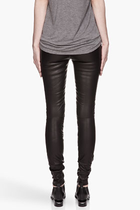 BLK DNM Black Biker Inspired Stretch Leather Pants for women   SSENSE