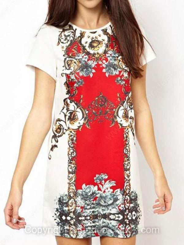 tribal pattern summer dress tank dress summer skirt print dress red printed dress tribal pattern tribal print dress