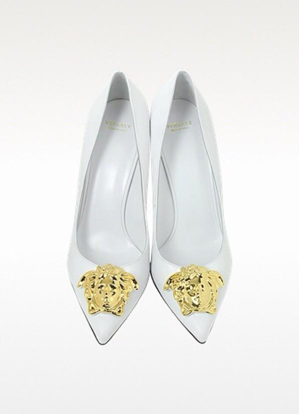 shoes versace medusa white
