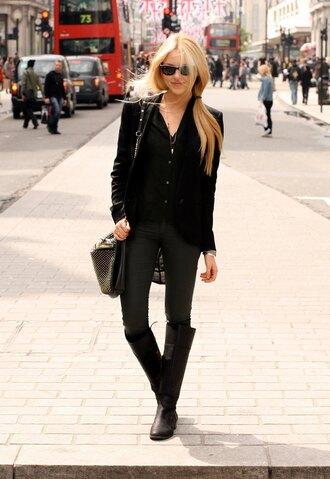 cheyenne meets chanel shirt jacket jeans bag shoes jewels pants sunglasses