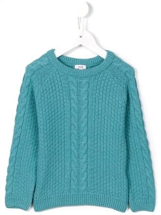 sweater girl braid blue