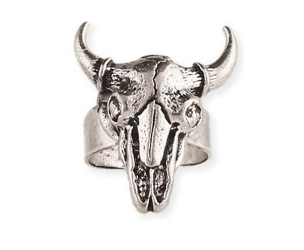 Silver Steer Skull Ring | Shop Coolie