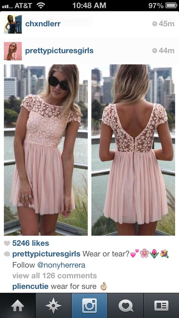 dress pink dress lace dress