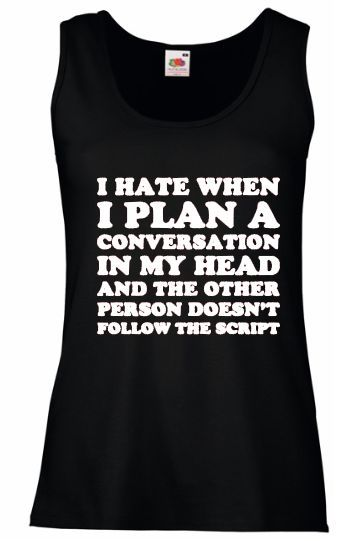 Women vest, Size: S, Black, I hate when I plan conversation in my head...   eBay