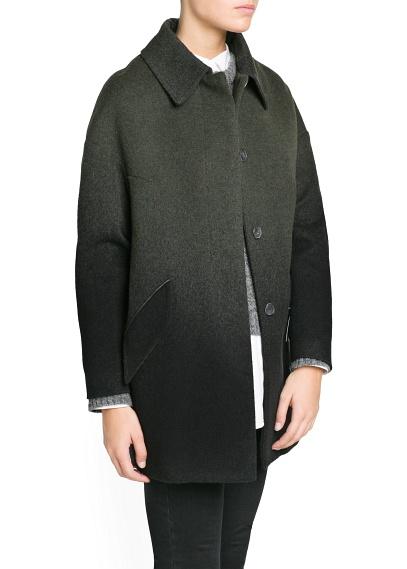 MANGO - CLOTHING - Ombré wool-blend oversize coat