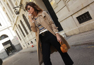 my daily style blogger coat sweater jeans shoes sunglasses bag