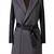 ROMWE   ROMWE Faux Leather Sleeved Self-tied Grey Coat, The Latest Street Fashion