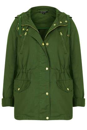 Hooded Short Parka Jacket - Topshop
