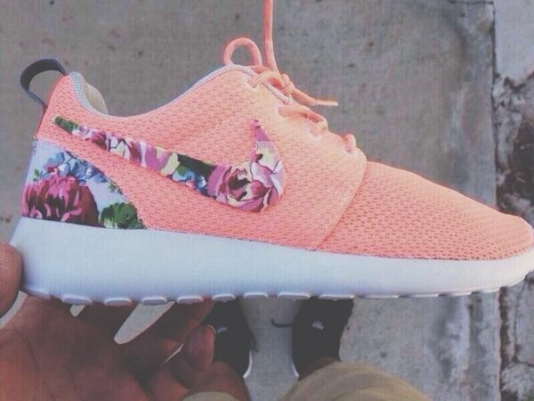 shoes nike floral coral nike running shoes