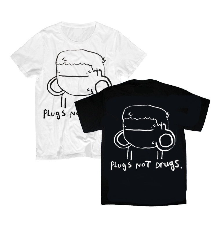 Plugs Not Drugs ( Tshirts Black OR White ) — STAY GREAT APPAREL