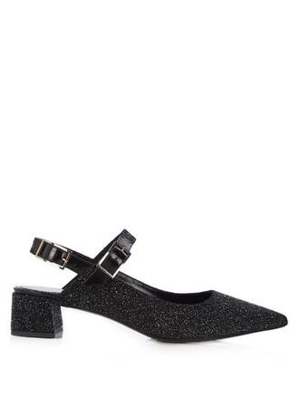 suede pumps glitter pumps suede black shoes