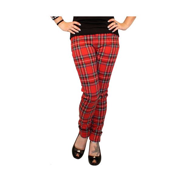 TRIPP GIRLS JEANS RED PLAID in Pants & Jeans at Sourpuss Clo... - Polyvore
