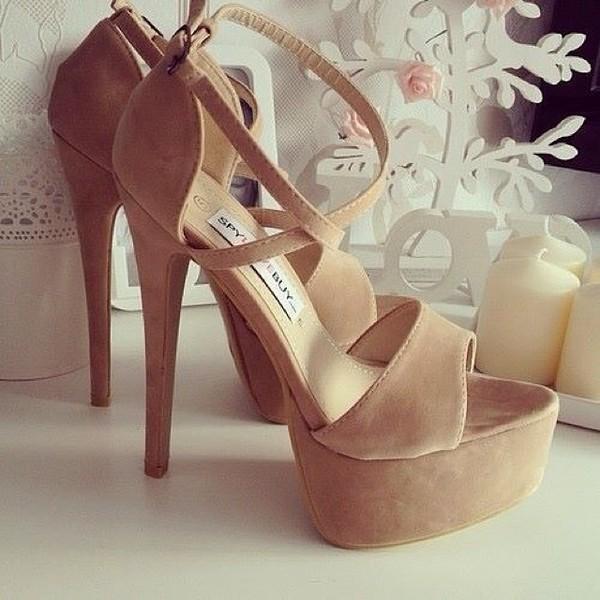 shoes high heels pink nude nude high heels heels talons beige plateau suede cute girly high heel sandals nude sandals