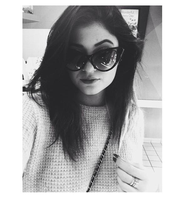 sweater kylie jenner sunglasses dress