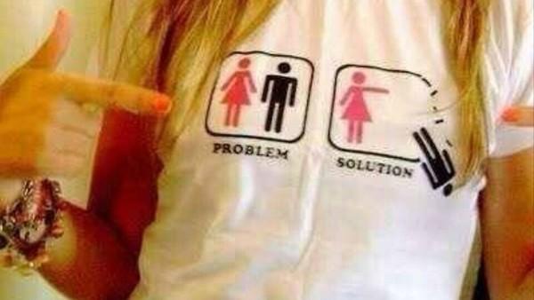t-shirt problem solution no boyfriend no problem