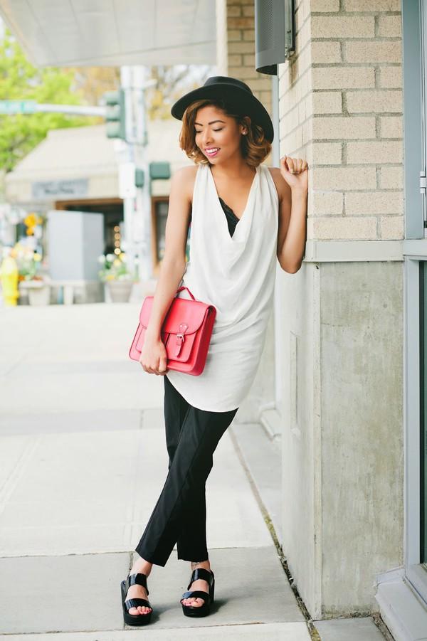 seattle fashion blogger top bag