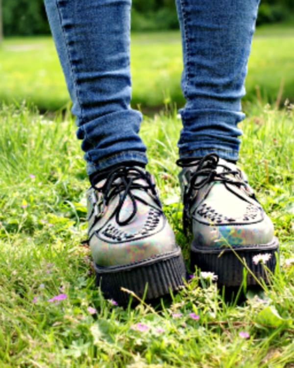 shoes creepers metallic