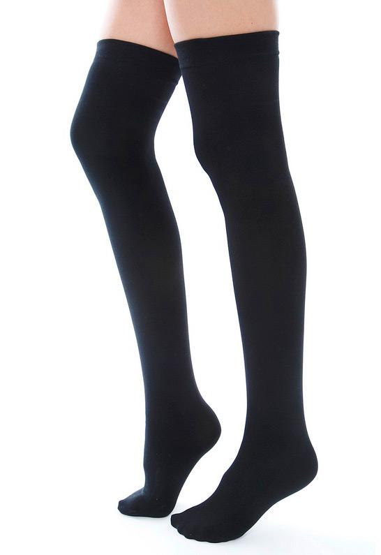 Plush Fleece Lined Thigh Highs | SINGER22.com