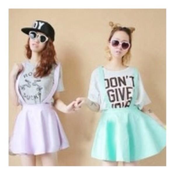jumpsuit i like purple overalls overall skirt skater skater skirt style neon pastel mint blue blue skirt lavender turquoise purple dress too cute heart eyes romper skirt