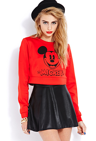 Classic Mickey Crop Top   FOREVER 21 - 2031557832