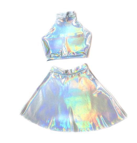 Holographic Twin Set – #NYLONshop