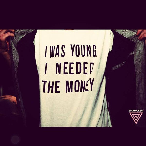 t-shirt graphic tee word top t-shirt youth young money