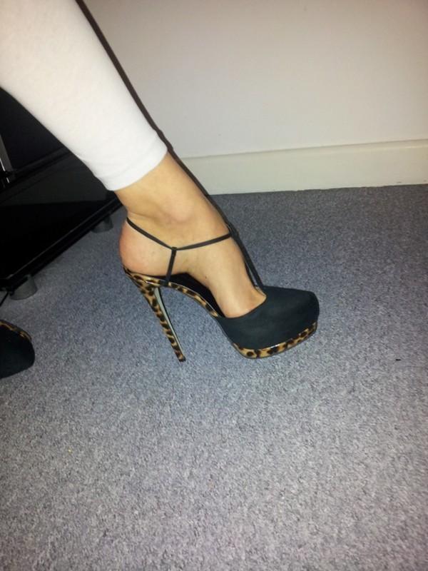 shoes black stilettos stilettos t-strap heels high heels leopard heels leopard print cheetah print shoes heels pumps platform shoes